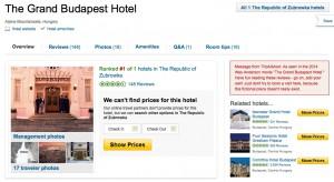 Grand Budapest at TripAdvisor